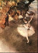 Edgar Degas The Star Dancer on Stage oil painting artist